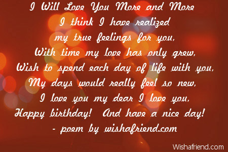 Love birthday Poems