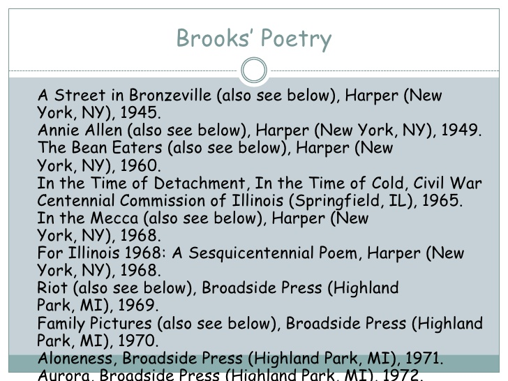 an analysis of broks poem where it ends An analysis of mending wall robert frost once said that mending wall was a poem that was spoiled by being applied what did he mean by applied any poem is damaged by being misunderstood, but that's the risk all poems run.
