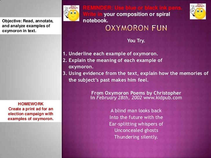 Oxymoron Poems