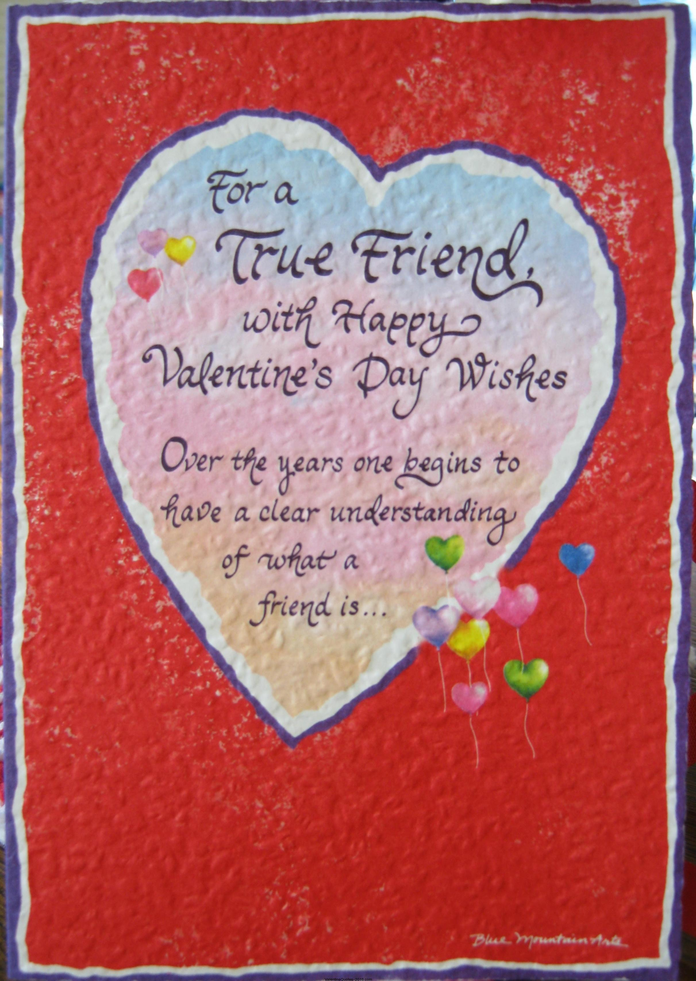 Valentine Friendship Poems