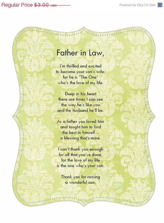Father In Law Poems