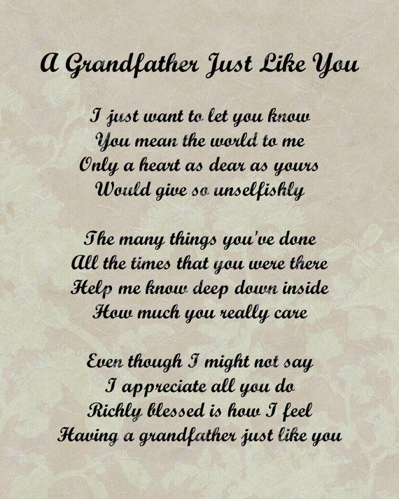 Grandfather granddaughter Poems