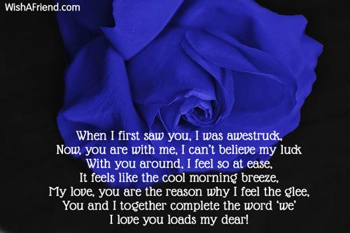 i love my girlfriend poems
