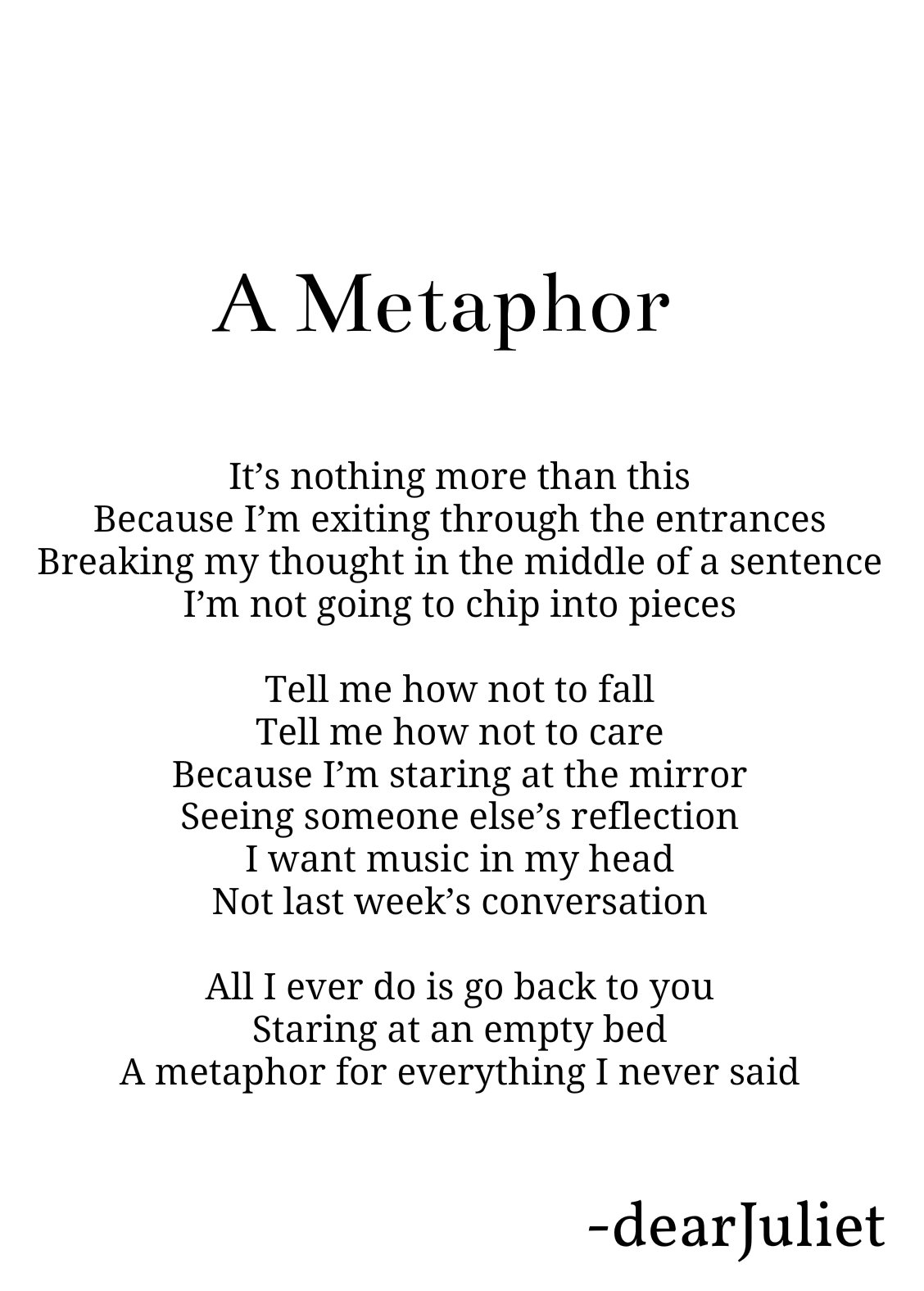 Metaphor Poems