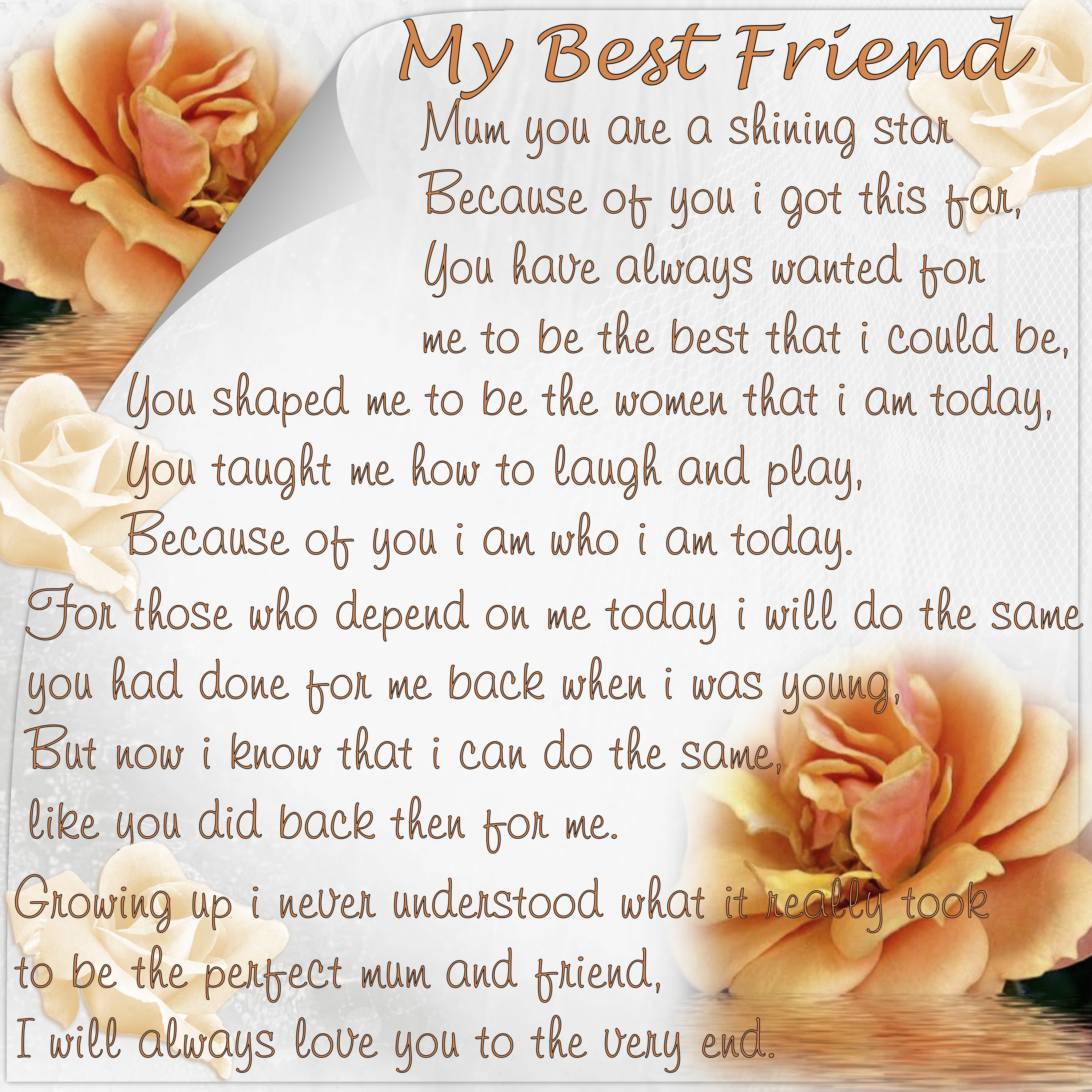 Friends forever Poems