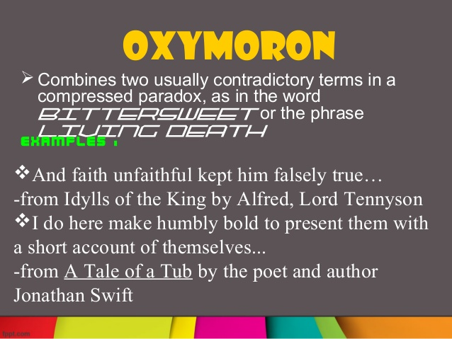 Oxymoron Poems