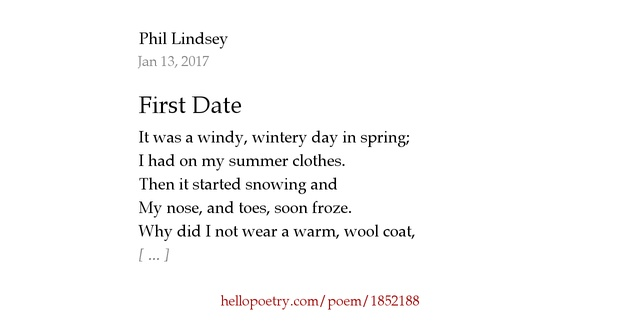 first date poems