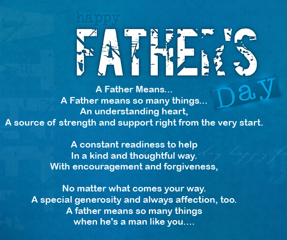 Happy fathers day poems m4hsunfo