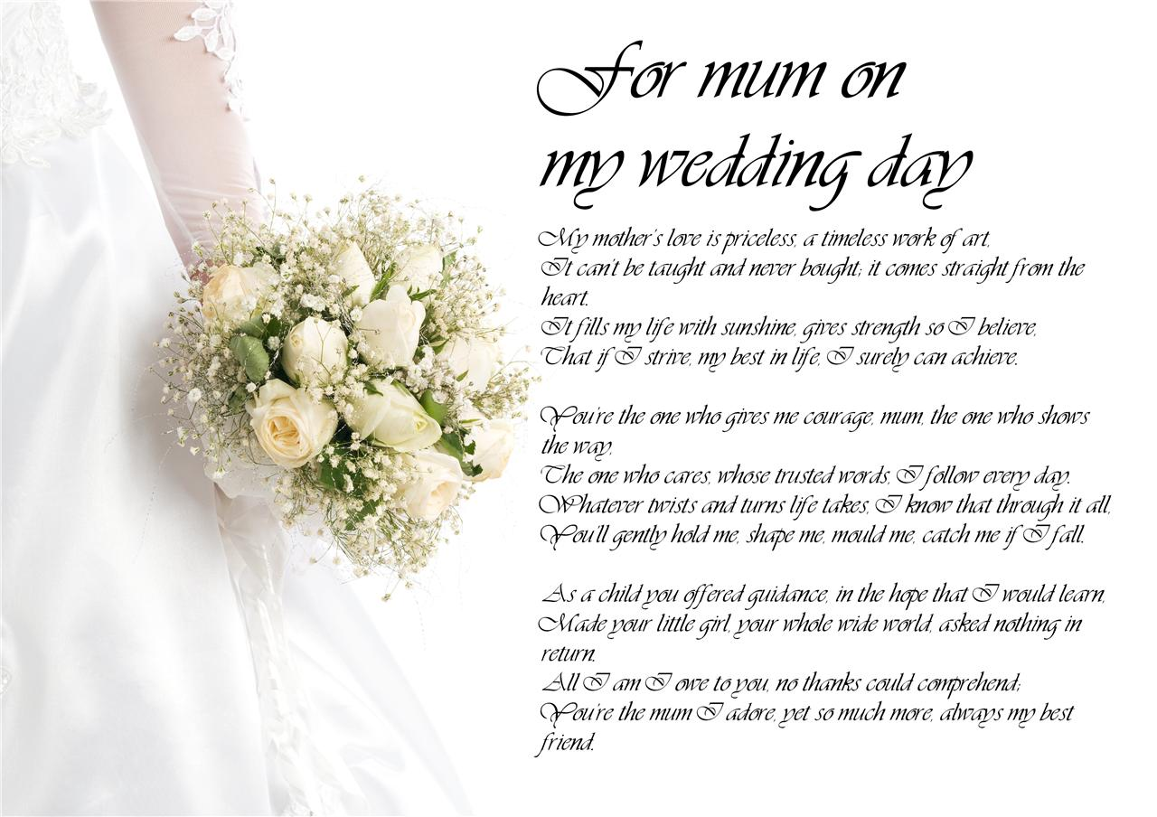 Poem For Daughter On Her Wedding Day From Mother Wedding Ideas