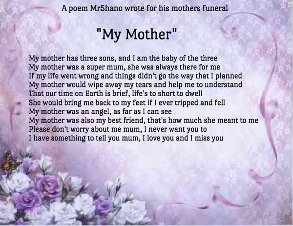 Mother Funeral Poems