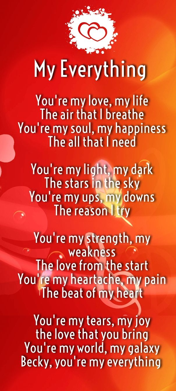 Your My Everything Poems