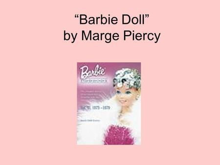 Barbie Doll Learning Guide: Table of Contents - shmoop.com