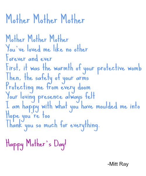 Short mother Poems