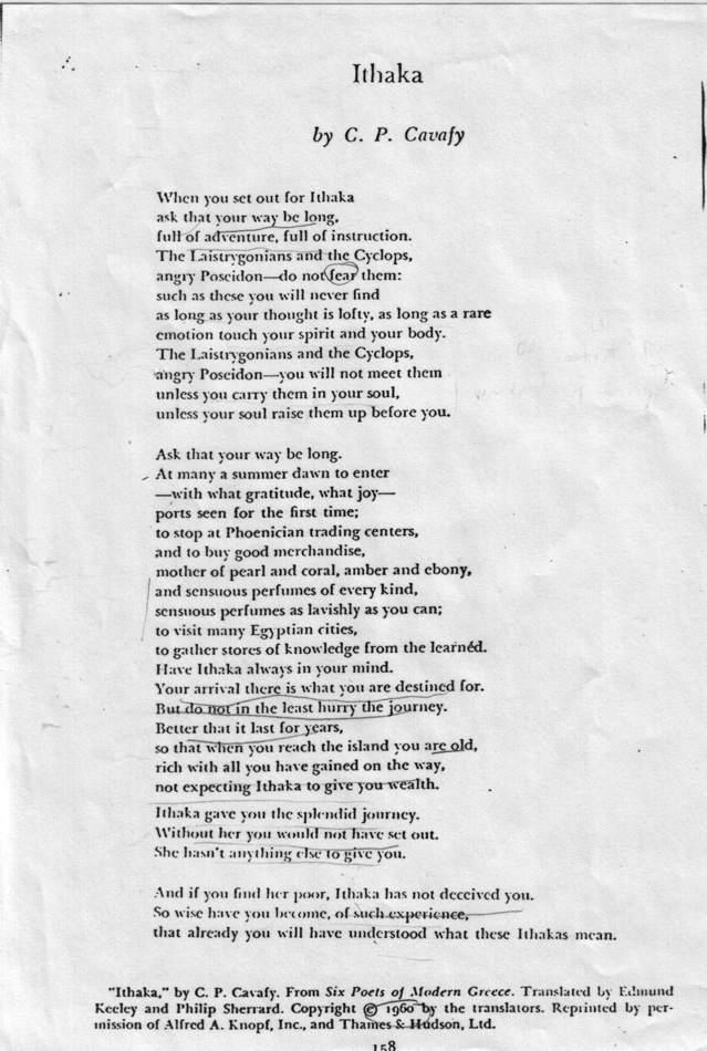 Kavafis Poems
