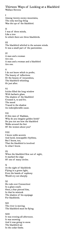 Blackbird Poems