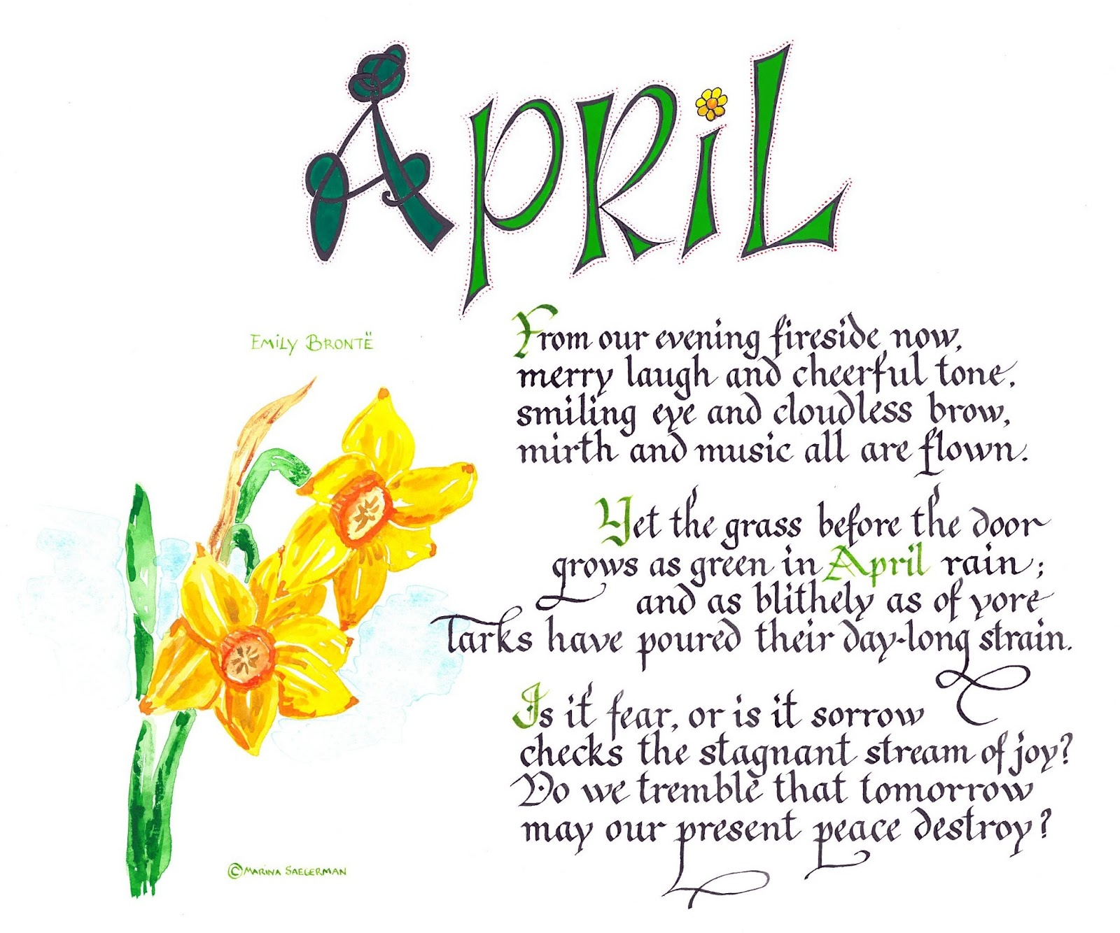 Image result for April with flowers and poems