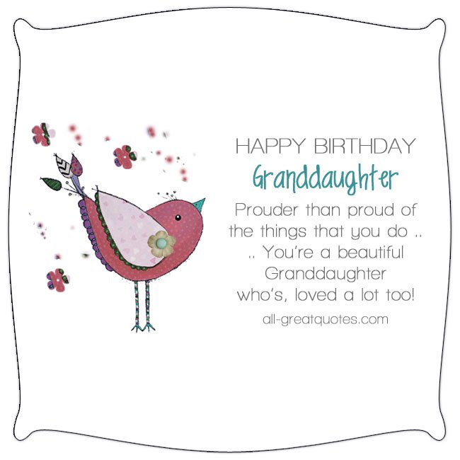 Happy Birthday Granddaughter Prouder Than Proud Nice