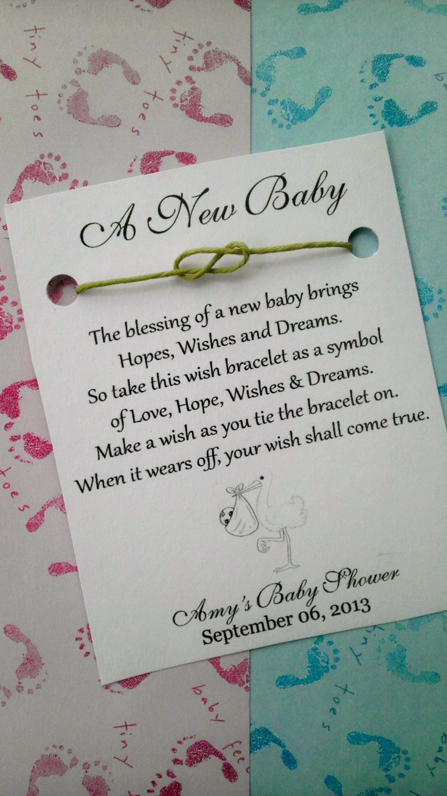 Short Wishing Well Wording Baby Shower