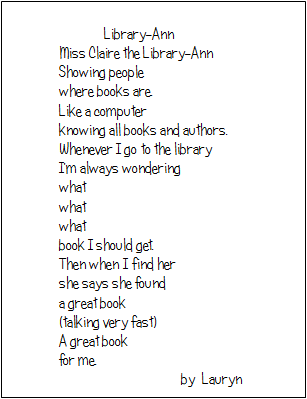 examples of free verse poems