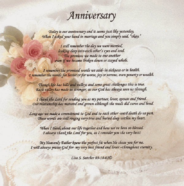 Wedding Anniversary Poems