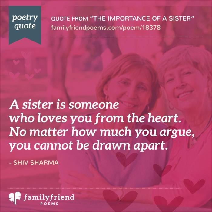 I Love You Sister Poems