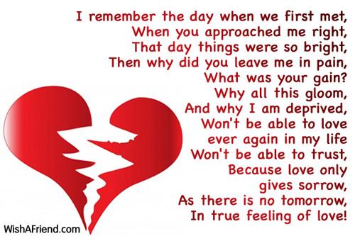 Heart Break Poems