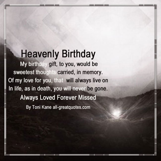 Heaven Birthday Wishes For Loved Ones Living On In