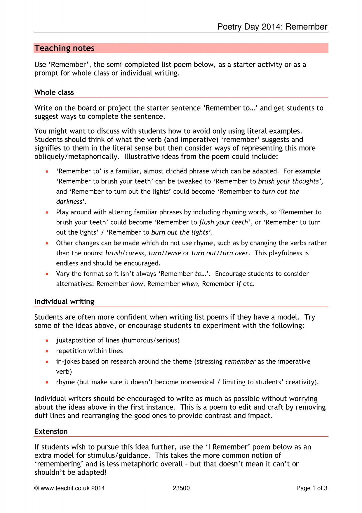 Ks3 poems ks3 poetry search results teachit english ibookread Download