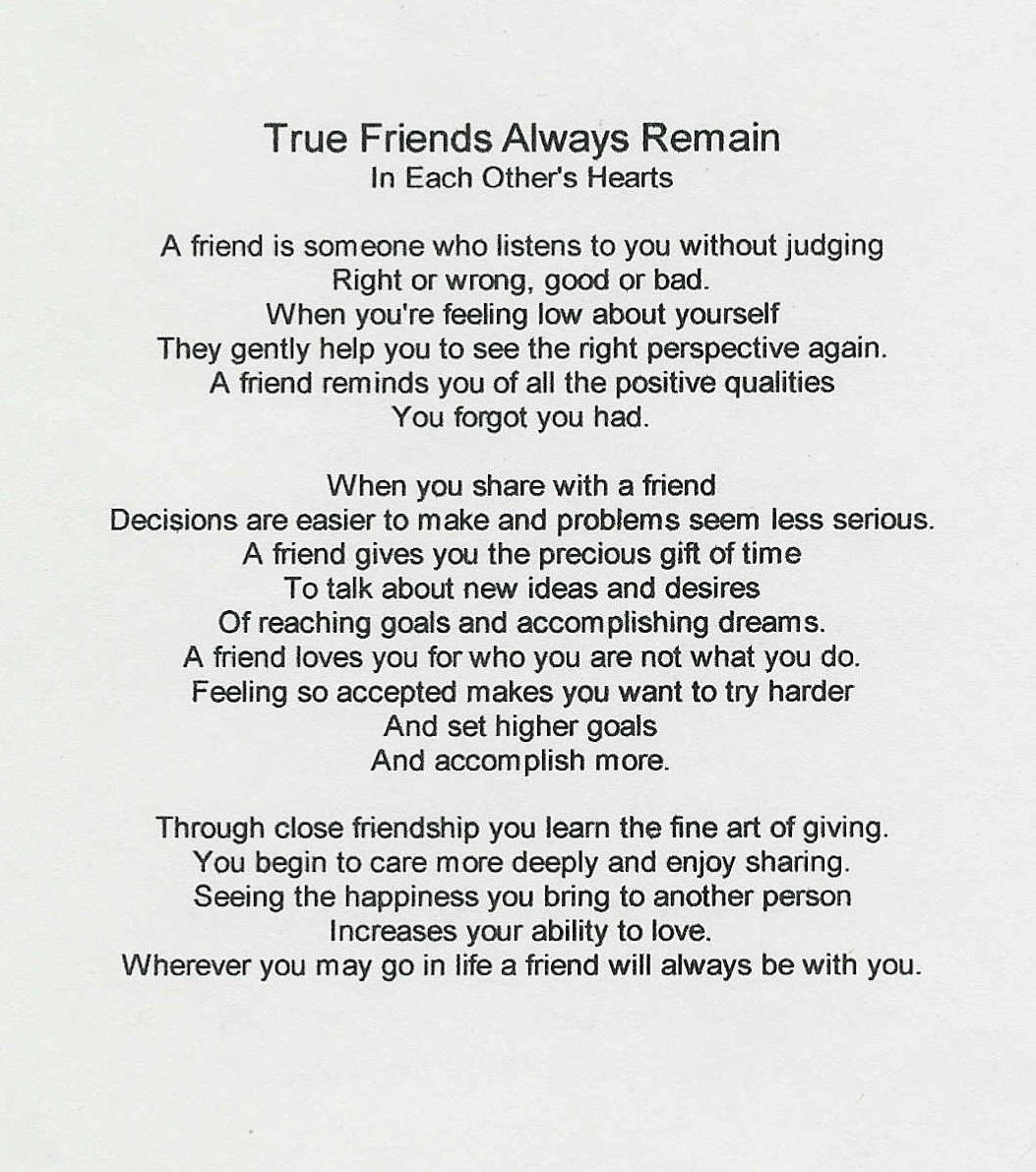 true friends poems