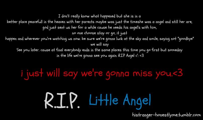 Rip Angel Poems