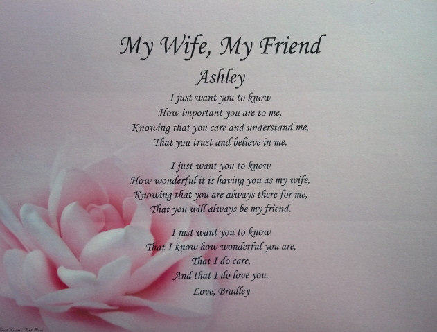 to my wife poems