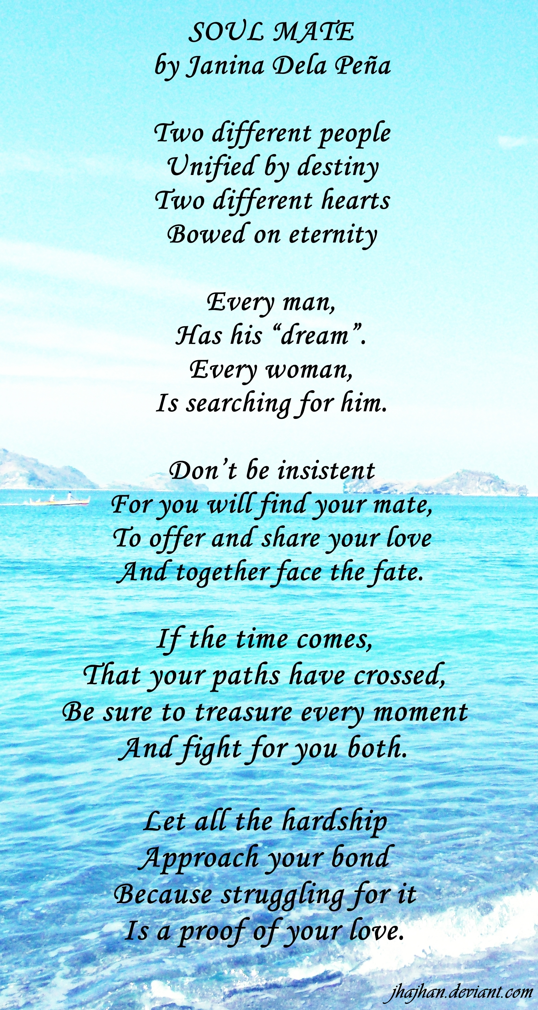 your my soulmate poems for him
