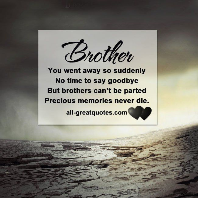 Loss Of Brother Quotes Impressive Loss Brother Poems
