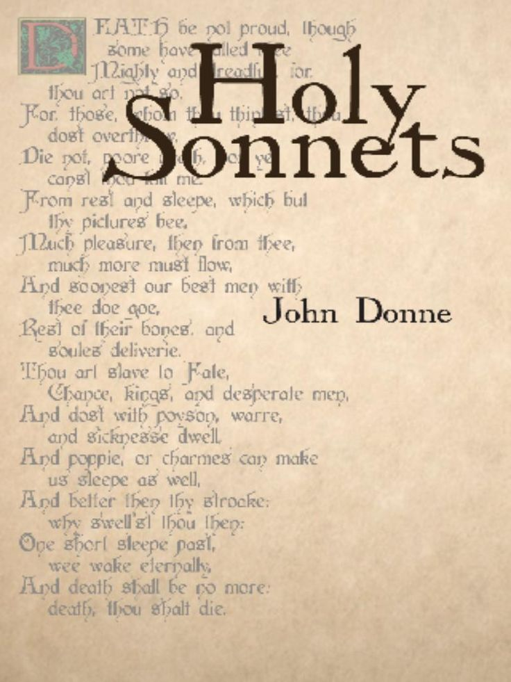 an essay on the use of the divine rape conceit in holy sonnet 14 by john donne Read john donne's poems john donne was born in 1572 in london, england he is known as the founder of the metaphysical poets, a term created by samuel johnson, an eighteenth-century english essayist, poet, and philosopher.