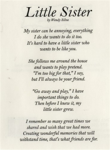 Happy Birthday Little Sister Poems