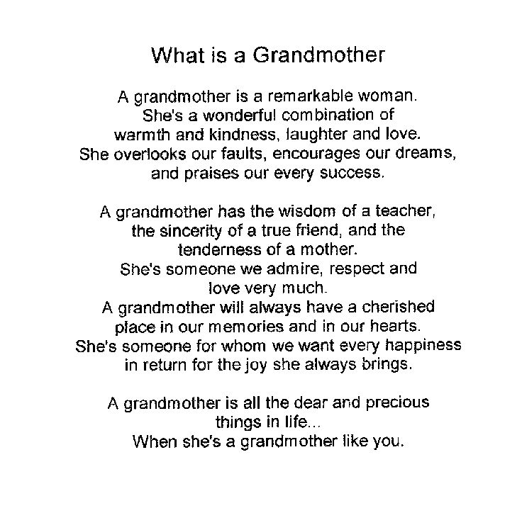 about grandmother in english