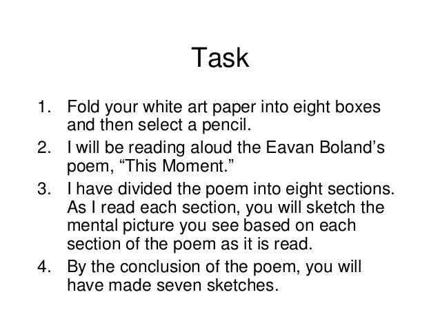 explication eavan boland s necessity irony Mary jo salter's explication of this richard wilbur poem provides ample illumination of the poem, which may not be fully grasped on first reading (or hearing)  eavan boland keen for poetry to move with digital age  a 'sense of inner necessity being muted' or patel's vigorous interaction with the visual arts compensating for that.