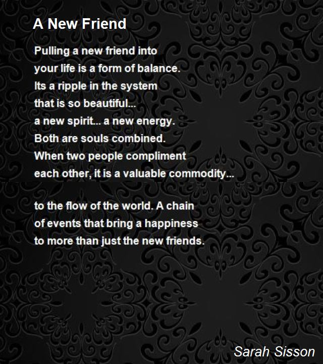 new friendship poems