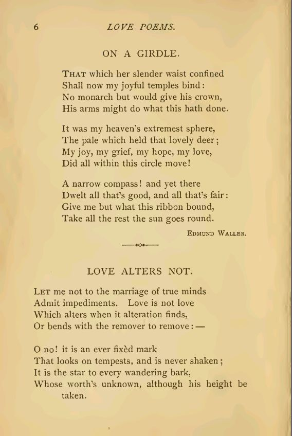 Old love Poems