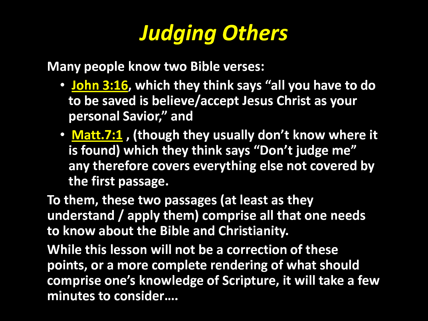 judging others To get this video on judging others and the discussion guide go to   we all know others.