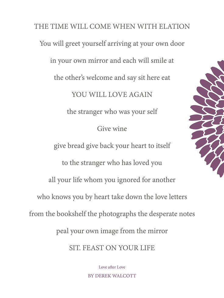 love after love poem by derek walcott poem hunter - 736×979