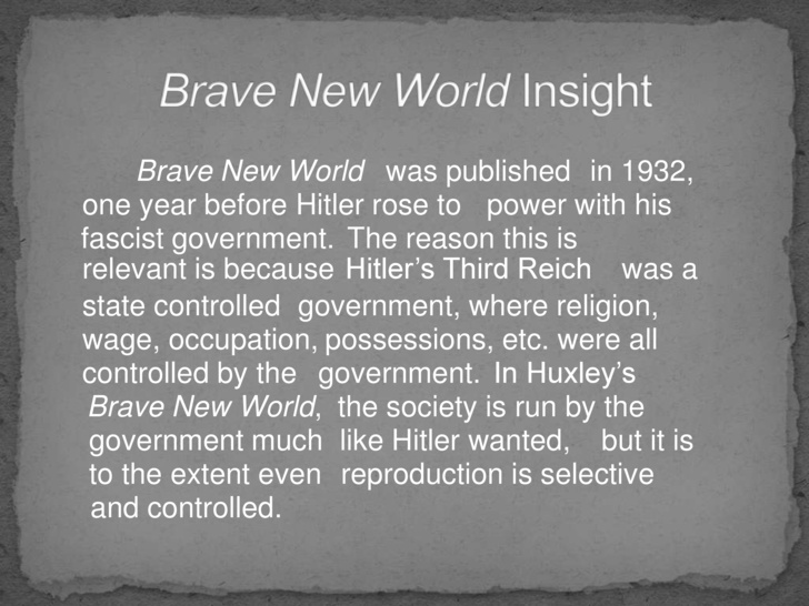 Summary -> Sparknotes Brave New World Chapters 46