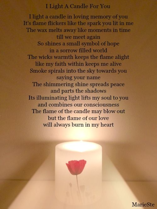 Candle Lighting Poems