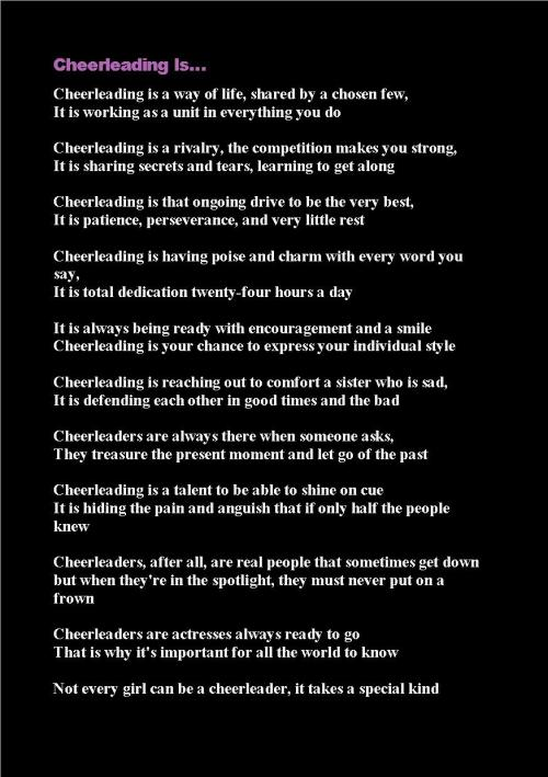 Cheer Poems