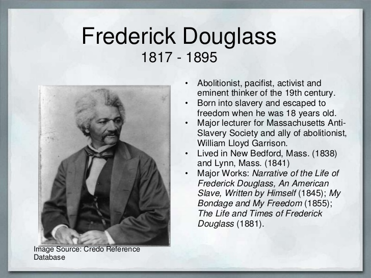 a description of slavery in frederick douglasss autobiography narrative of the life of frederick dou Douglass's autobiography is a centerpiece of the abolitionist literary canon other prominent abolitionist activists include william lloyd garrison, who published a newspaper called the liberator john greenleaf whittier full title: narrative of the life of frederick douglass, an american slave.