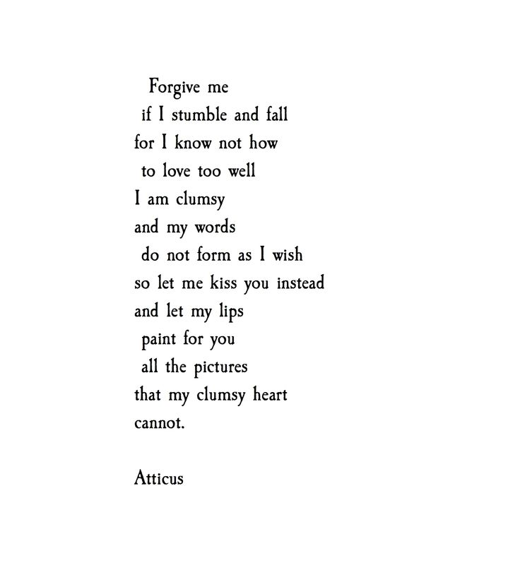 Falling Out Of Love Poems
