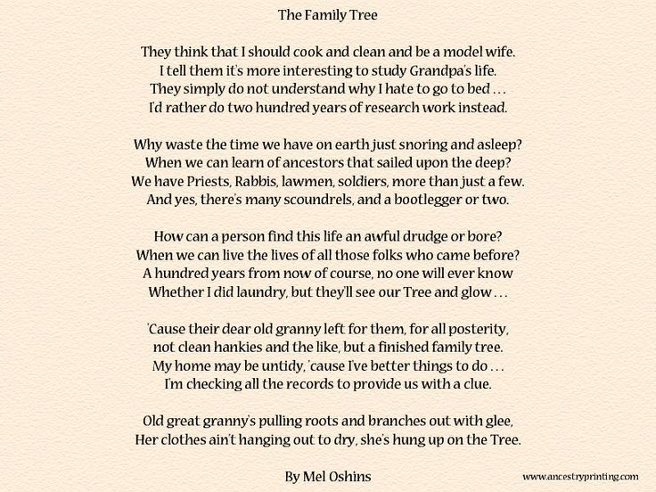 Family Memorial Poems