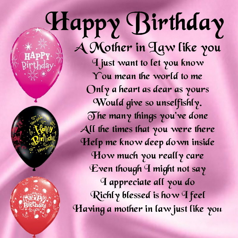Happy Birthday Quotes For Brother In Spanish: Happy Birthday Mother In Law Poems