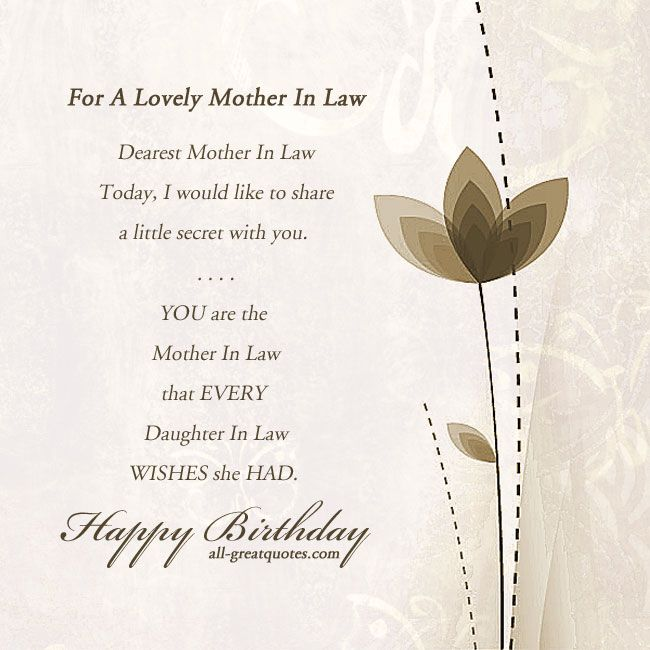 Happy birthday mother in law poems motherinlaw happybirthday birthdaycards birthdaywishes m4hsunfo