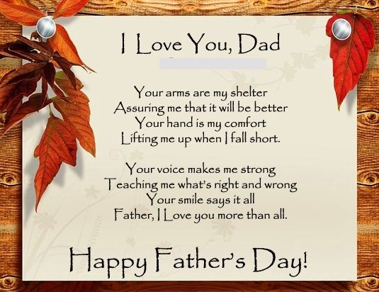 Valentines Day Quotes For Dad From Daughter: Christian Fathers Day Poems